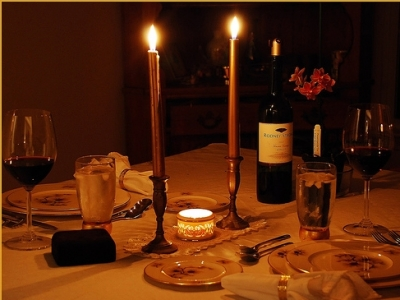 Dinner taper candles for a romantic dinner